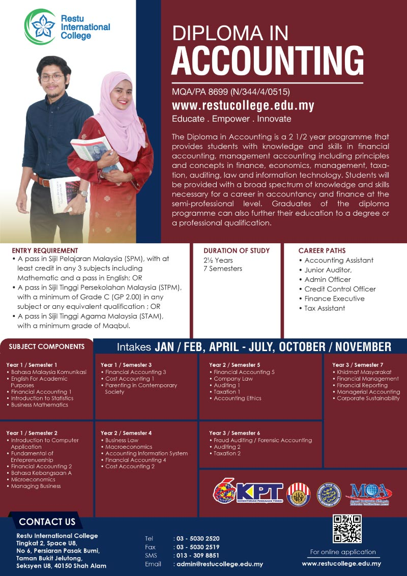 Diploma in Accounting Restu College