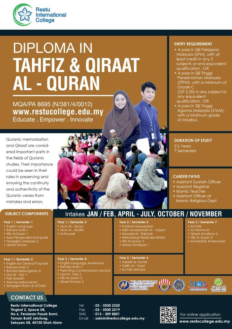 Diploma In Tahfiz & Qiraat