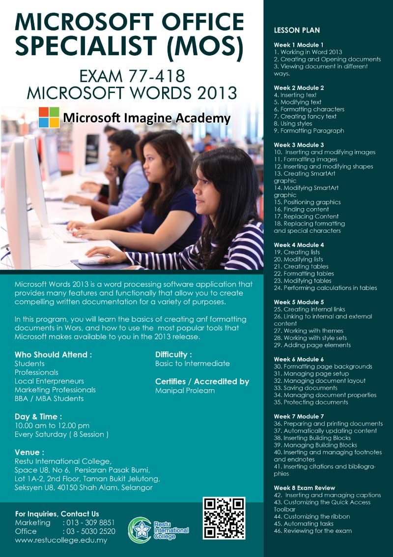 short course microsoft words